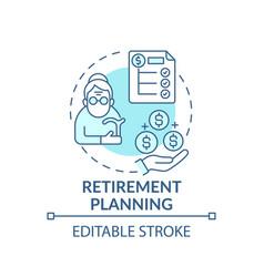 Retirement planning concept icon vector
