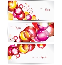 set abstract colorful web headers and cards vector image