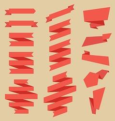Set flat ribbons vector