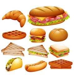 set of various foods vector image