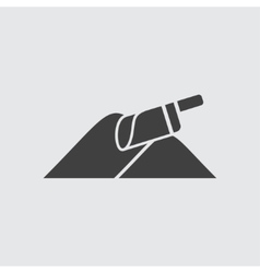 Shovel and sand icon vector image