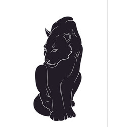 silhouette of a panther that sits vector image