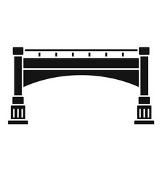 small bridge icon simple style vector image