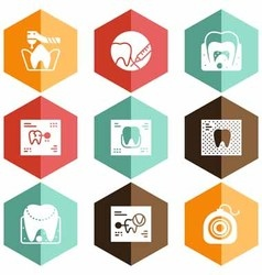 Solid icons scans teeth vector