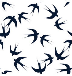 swallows soaring in the sky seamless pattern vector image