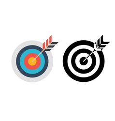 Target flat concept icon icon image vector
