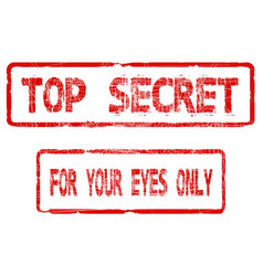 Top secret for your eyes only vector