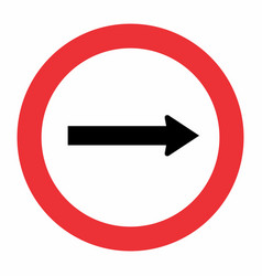 traffic way sign vector image