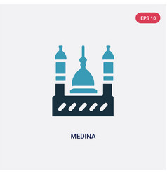 Two color medina icon from religion concept vector