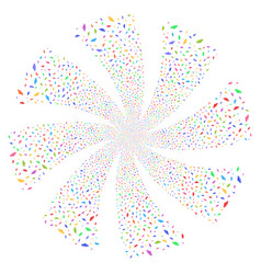 Ufo fireworks swirl rotation vector