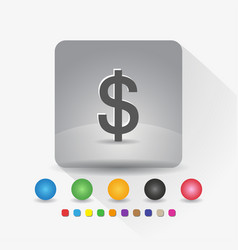 us dollar currency symbol icon sign symbol app in vector image