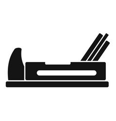 wood jack plane icon simple style vector image