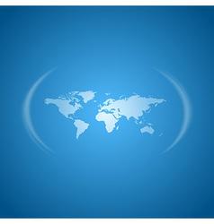 World map blue vector