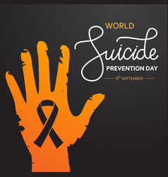 World suicide prevention day concept with vector