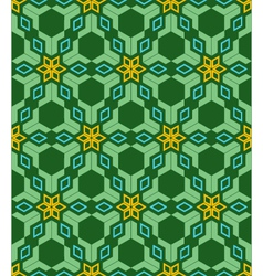 abstract geometric blue green yellow seamless vector image vector image