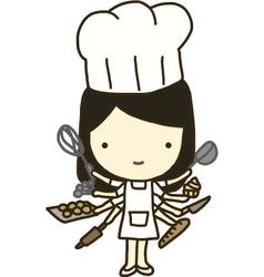 Baker Goddess vector image