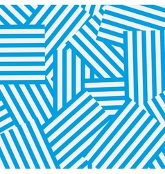 Blue and white striped background vector image vector image