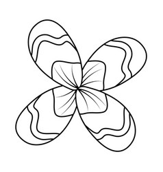 flower natural botanical decoration icon vector image
