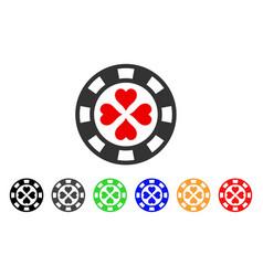 poker casino chip icon vector image vector image