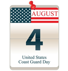 United States Coast Guard Day vector image vector image