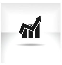 financial graph web icon vector image