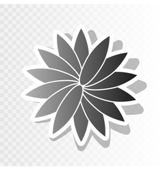 flower sign new year blackish icon on vector image vector image