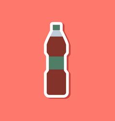 paper sticker on stylish background soda bottle vector image