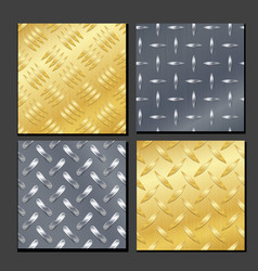 seamless diamond metal background set with tread vector image vector image