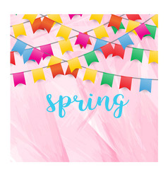 Spring season background vector