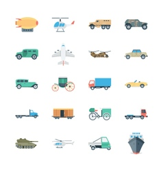Transports colored icons 5 vector