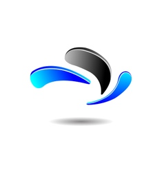 Abstract Water Drop Logo vector image vector image