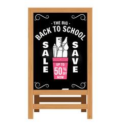 Back to school design wooden announcement board vector