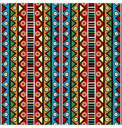 Ethnci motifs in various colors vector image vector image