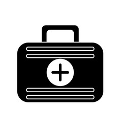 first aid case medical emergency pictogram vector image