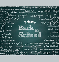 mathematical back to school background vector image vector image