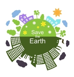 Save the Earth vector image vector image