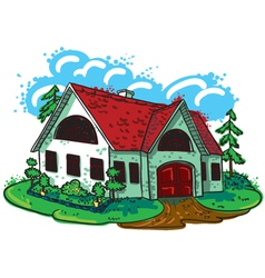 sketchy doodle hand-drawn house cottage vector image