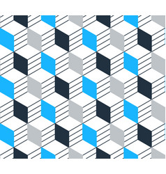 blue black line pattern on white seamless backdrop vector image