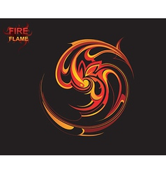 Flame tribal background vector image vector image
