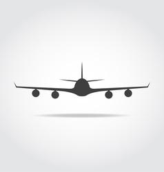 Front Plane Black Icon vector image vector image