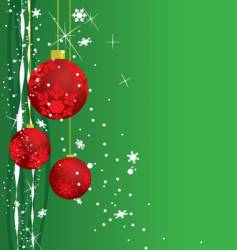 holiday ornaments vector image vector image