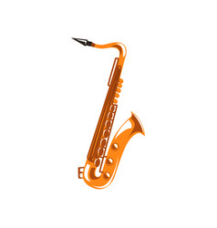 saxophone music wind instrument vector image