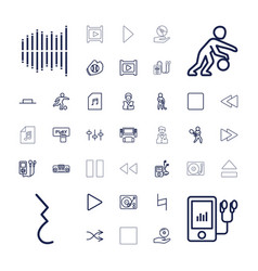 37 player icons vector