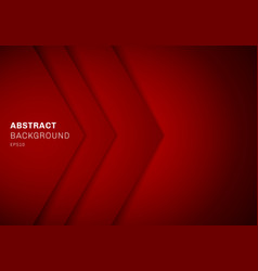 abstract template 3d red triangle with overlap vector image