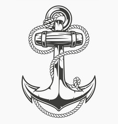 an anchor with rope vector image