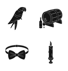 Animal clothing and or web icon in black style vector