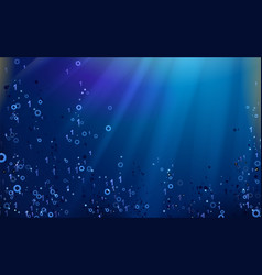 binary code dark blue background big data and vector image