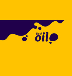 black oil stain on bright yellow background vector image