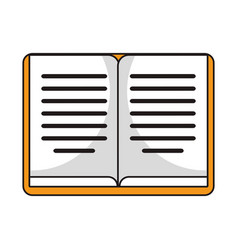 book knowledge library study vector image
