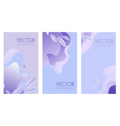 book or magazine cover light theme with foliage vector image